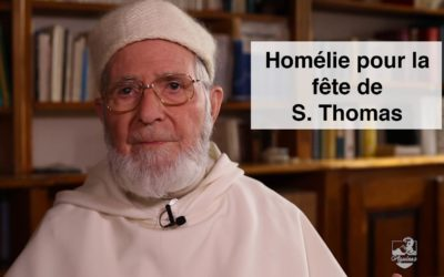 Homélie du père Jean-Pierre Torrell pour la fête de saint Thomas d'Aquin
