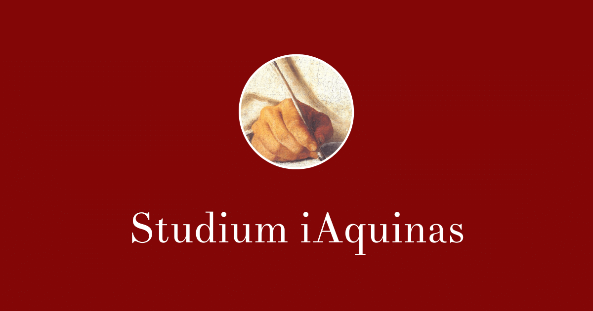 Studium iAquinas